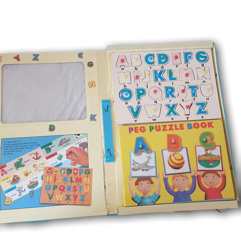 ABC puzzle and peg book