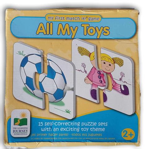All My Toys - 2 piece puzzle