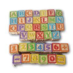 Garanimals Blocks Alphabets and Numbers (complete) - Toy Chest Pakistan
