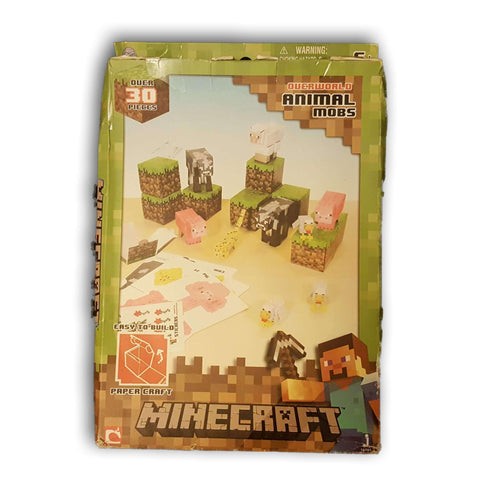 Minecraft Papercraft Animal Mobs Set (Over 30 Pieces) NEW - Toy Chest Pakistan