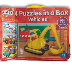 4 puzzles in a box  Vehicles - Toy Chest Pakistan