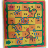 Wooden baord for snakes and ladders- foldable