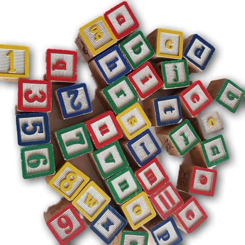 1 inch sized wooden blocks- assorted