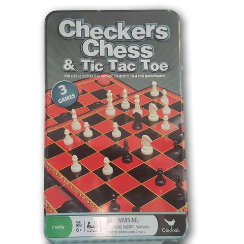 Checkers Chess And Tic Tac Toe