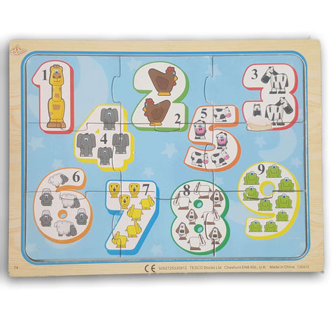1- 9 wooden puzzle