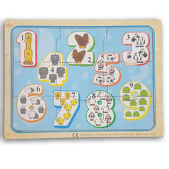 1- 9 wooden puzzle - Toy Chest Pakistan