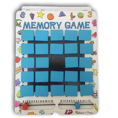Melissa & Doug Flip to Win Travel Memory Game - Wooden Game Board, 7 Double-Sided Cards - Toy Chest Pakistan