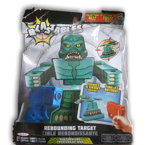 Blastables Bump N Blast Rebounding Target Robot Theme with Blue Blaster - Toy Chest Pakistan