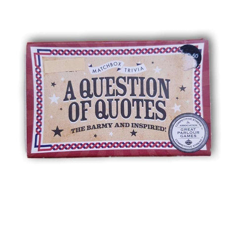 A Question Of Quotes