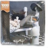 1000pc checkerboard cat puzzle new