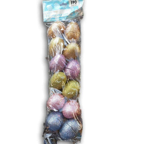 Glitter Easter Eggs To Use For Fun Activities And As Goody Bags (Pack Of 12)
