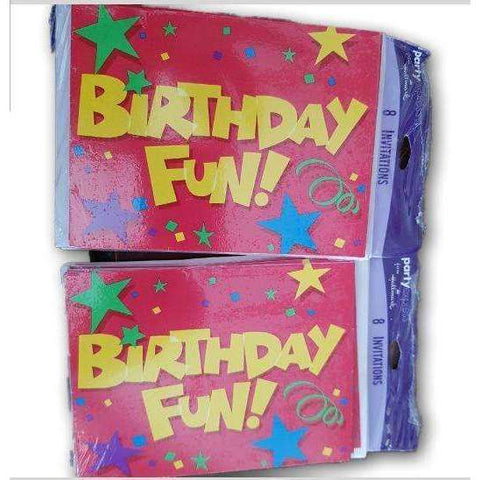 Birthday Invites, 16 Cards - Toy Chest Pakistan