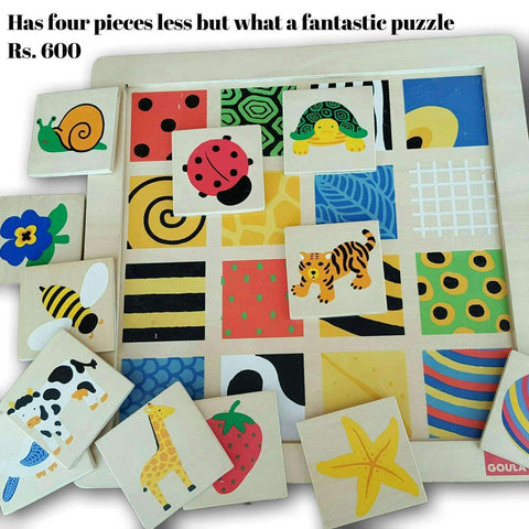 Visual Pattern Puzzle (4 Pc Less)