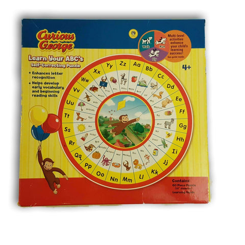 Curious George Learn Your Abcs Puzzle