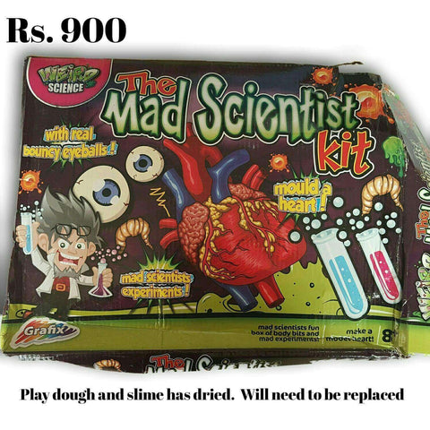 Mad Scientist Science Kit -  Slime and Playdough dried