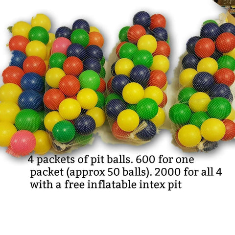 Pit balls (approx 200) with free inflatable pit