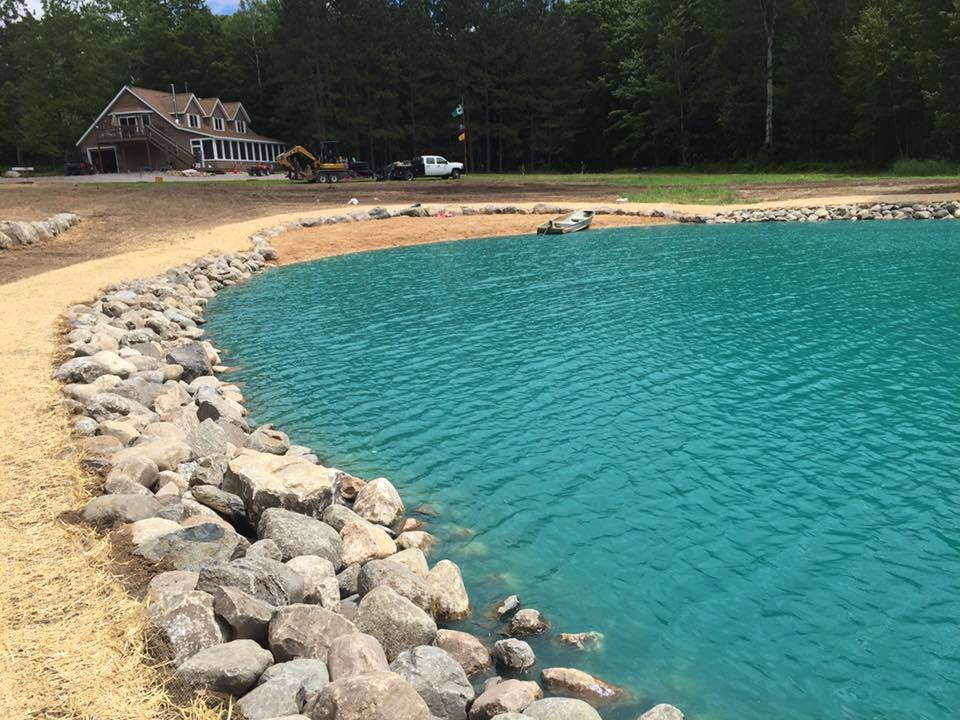 "MERRITT, MICHIGAN. Approx. 1 Acre Pond ""Re-Construction"""