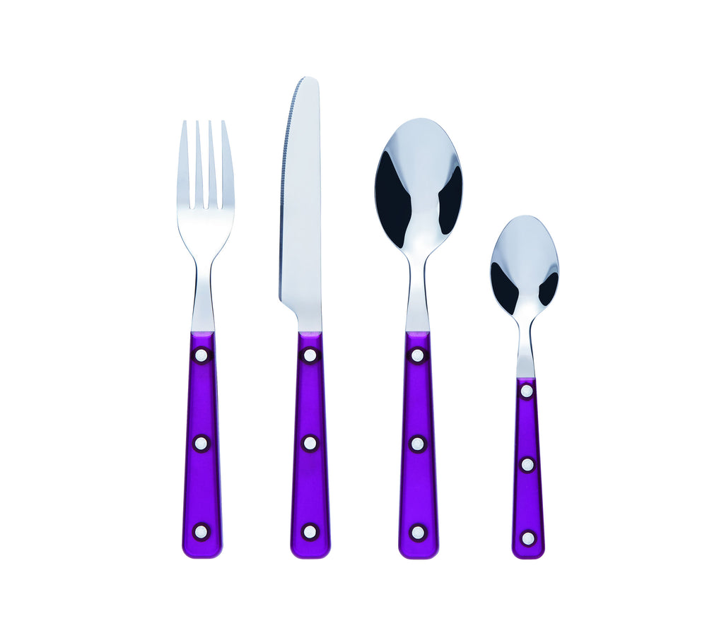 Bon Sabrina 16-Piece Stainless Steel Cutlery Set - Purple