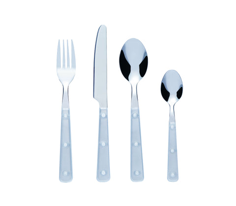 Bon Sabrina 16-Piece Stainless Steel Cutlery Set - White