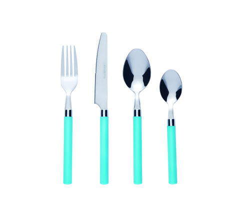 Bon Funnel 16-Piece Stainless Steel Cutlery Set - Blue