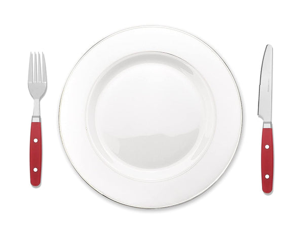 Bon Henley 16-Piece Stainless Steel Cutlery Set - Red