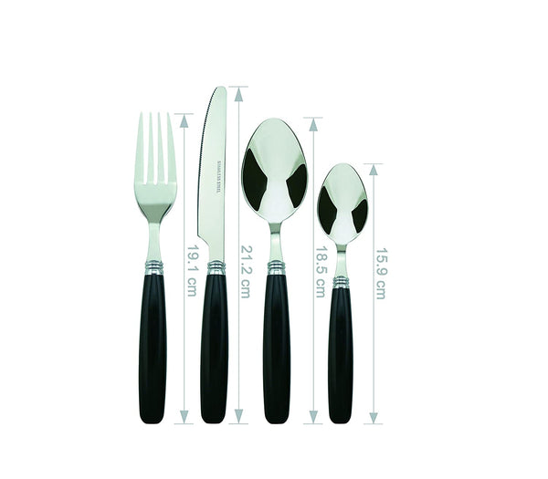 Bon Float 16-Piece Stainless Steel Cutlery Set - Black