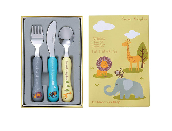 Bon Animal Kingdom 3-Piece Children's Cutlery Set
