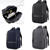 Men's Business Charging Backpack Waterproof Large Capacity Laptop Backpack with USB Charging Port - Z16 Apparel