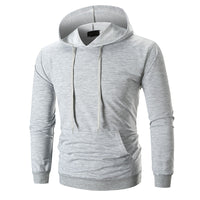 Men's Long Sleeve Solid Hoodie Hooded Sweatshirt