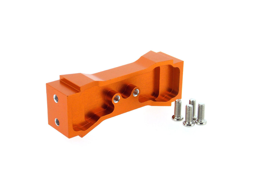 Tamiya Ford F350 High-Lift Aluminum Front Support - 1Pc Set Orange