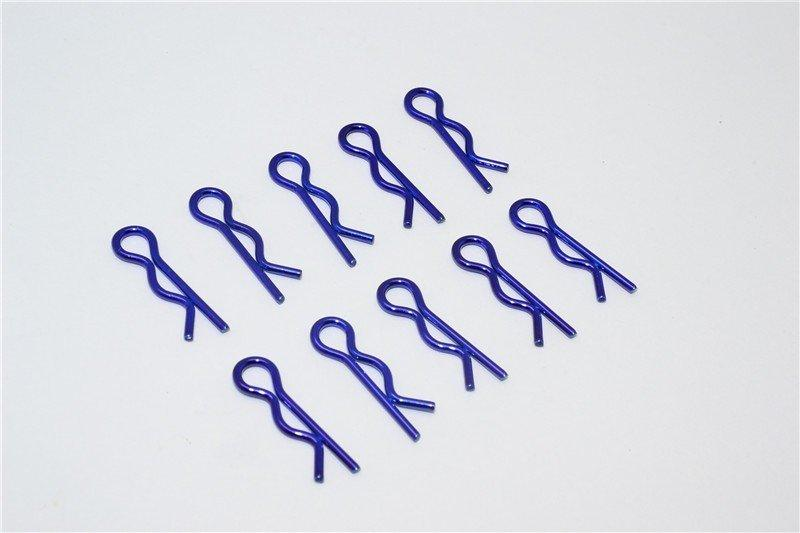 Medium Flu Clip Set - 10Pcs Blue