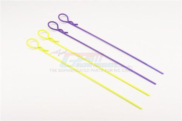 Extend Long Round Body Clip Set (Stick Length 118mm) Mixed Color - 4Pcs