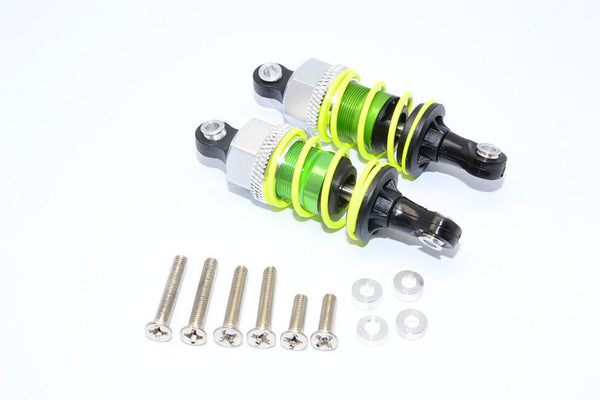 1/10 Touring - Plastic Ball Top Damper (50mm) With Washers & Screws - 1Pr Set Green - JTeamhobbies