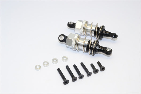 1/10 Touring -Plastic Ball Top Damper (50mm) With Washers & Screws - 1Pr Set Silver - JTeamhobbies