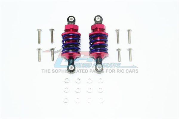 Aluminum Front Or Rear Spring Dampers (53mm) For 1:10 R/C Cars - 1Pr Set Red