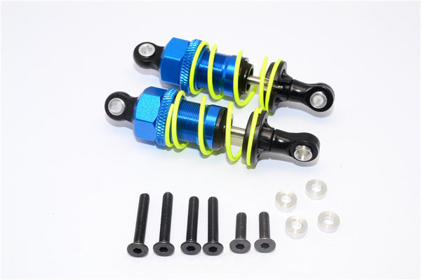 1/10 Touring - Plastic Ball Top Damper (55mm) With Washers & Screws - 1Pr Set Blue - JTeamhobbies