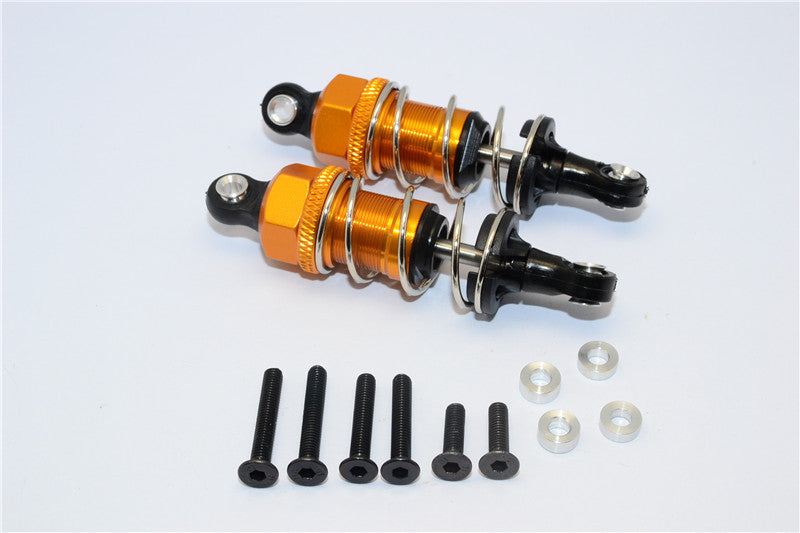 1/10 Touring - Plastic Ball Top Damper (55mm) With Washers & Screws - 1Pr Set Gold - JTeamhobbies