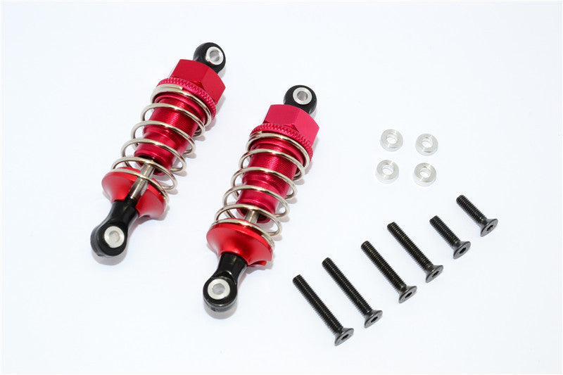1/10 Touring - Plastic Ball Top Damper (60mm) With Washers & Screws - 1Pr Set Red - JTeamhobbies