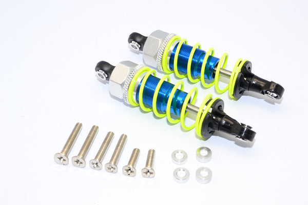 1/10 Touring - Plastic Ball Top Damper (65mm) With Washers & Screws - 1Pr Set Blue - JTeamhobbies