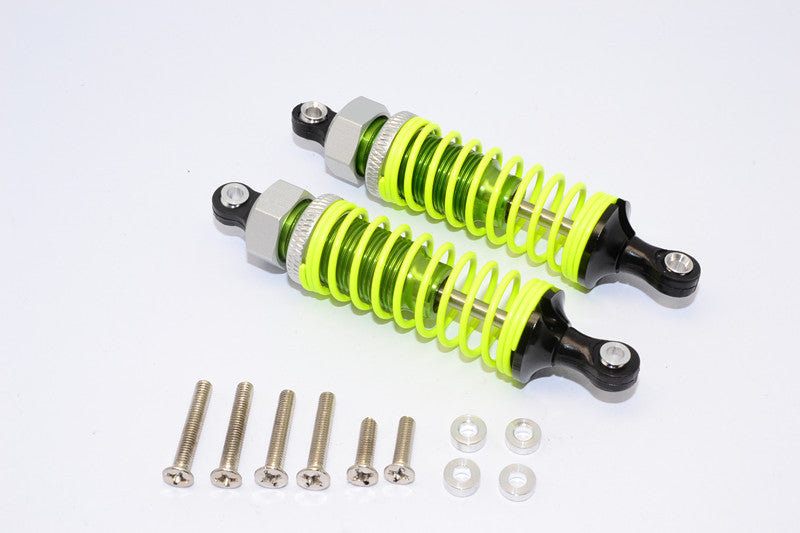 1/10 Touring - Plastic Ball Top Damper (75mm) With Washers & Screws - 1Pr Set Green - JTeamhobbies