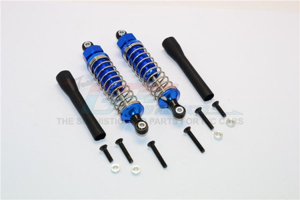 Off Road - Plastic Ball Top Damper (85mm) With Dust-Proof Black Plastic Cover & Washers & Screws - 1Pr Set Blue
