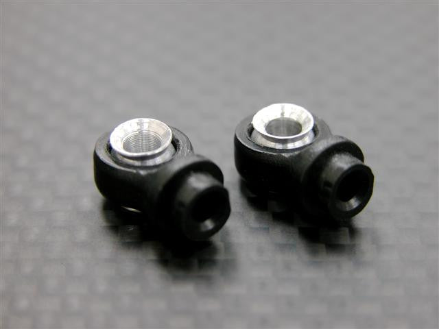 Nylon Small Ball Ends For ADP/DP 100mm Dampers (D5.8mm) With Balls - 2Prs Black