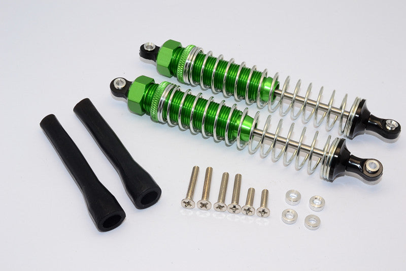 Off-Road - Plastic Ball Top Damper (110mm) With Dust-Proof Black Plastic Cover & Washers & Screws - 1Pr Set Green