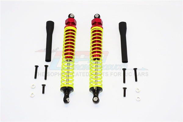 Off Road - Plastic Ball Top Damper (125mm) - 1Pr Set Red