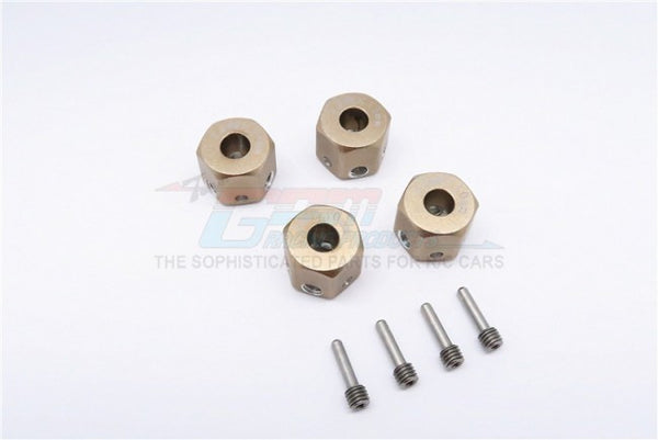 Aluminum Universal Hex Adapter 12mmx10mm - 4Pcs Set Titanium