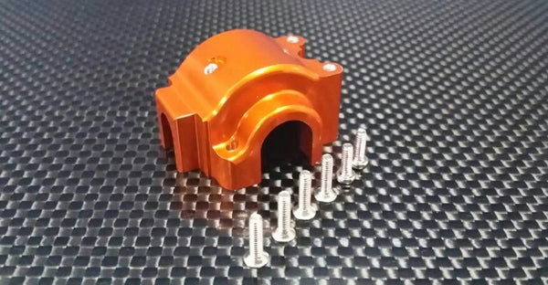 Team Associated RC18T Aluminum Front/Rear Gear Box With Screws - 1Pc Set Orange