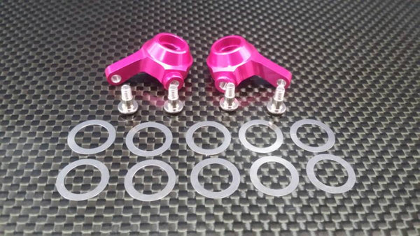 Team Associated RC18T Aluminum Front Knuckle Arm With Screws - 1Pr Set Pink