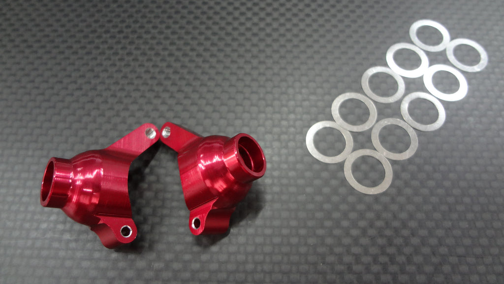 Team Associated RC18T Aluminum Rear Knuckle Arm With Shims - 1Pr Set Red