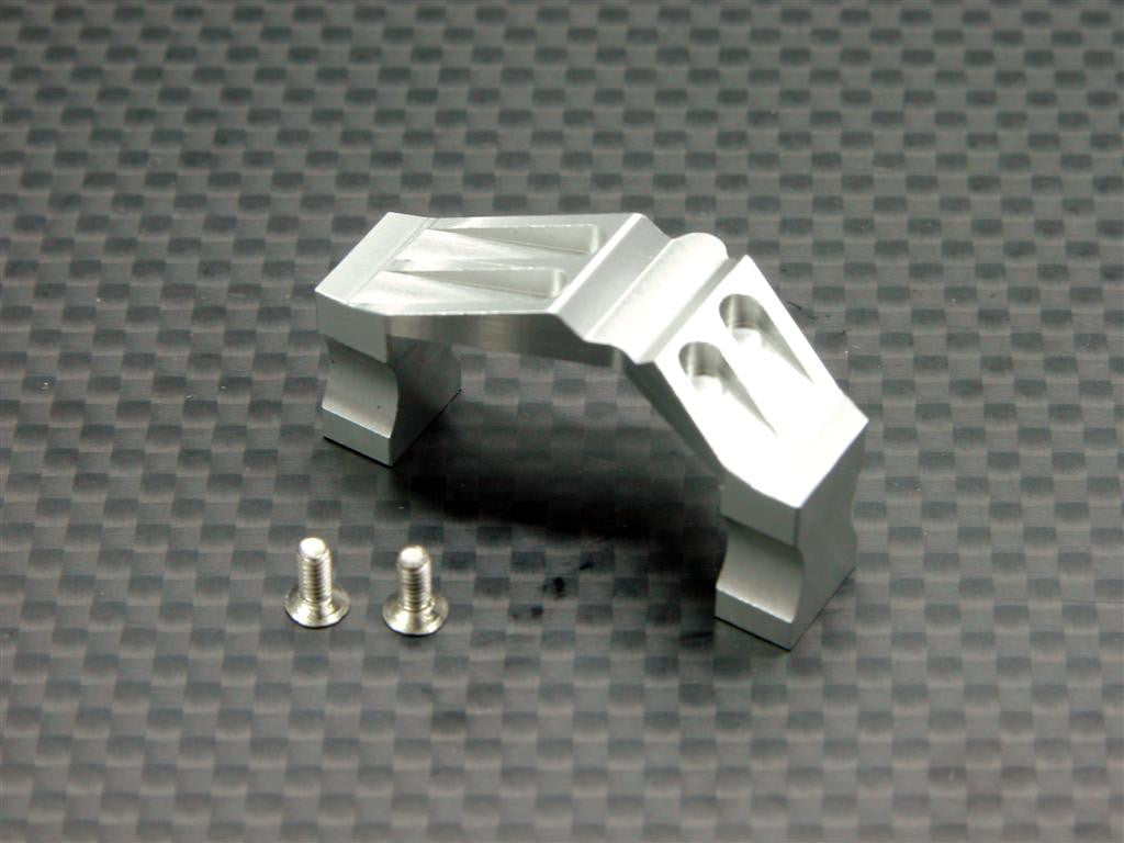Team Associated RC18T Aluminum Servo Mount With Heatsink & Screws - 1Pc Set Silver