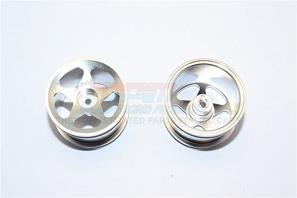 Team Associated RC18T Aluminum Standard Sinkage Surface Rims (Star) - 1Pr Silver